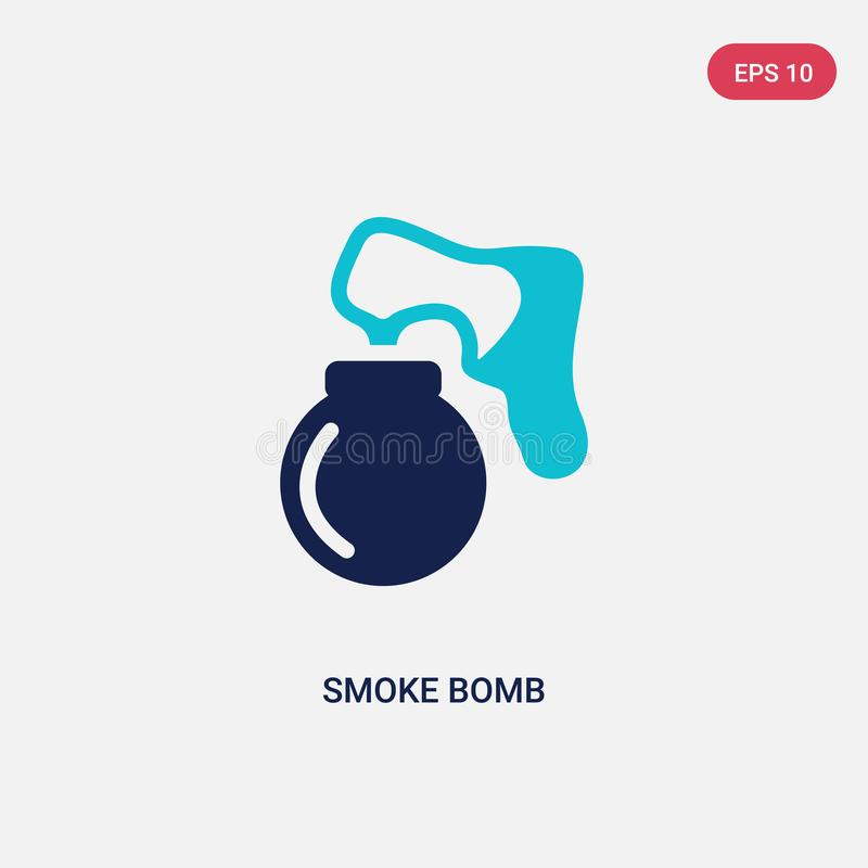 Two color smoke bomb vector icon from asian concept. isolated blue smoke bomb vector sign symbol can be use for web, mobile and stock illustration
