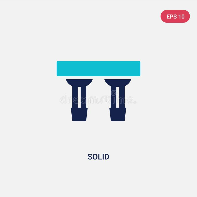 Two color solid vector icon from cinema concept. isolated blue solid vector sign symbol can be use for web, mobile and logo. eps royalty free illustration