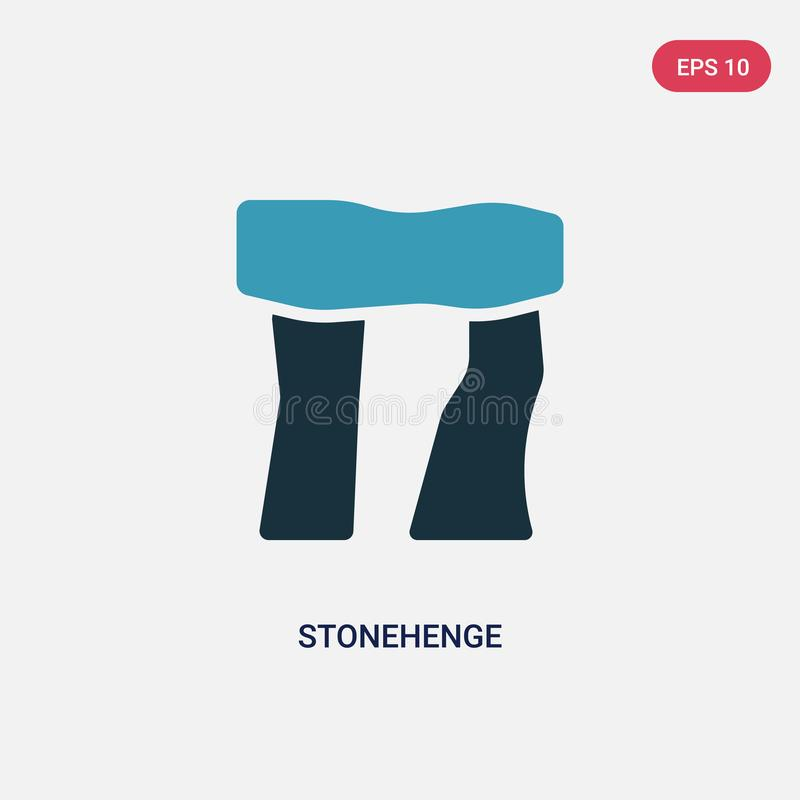 Two color stonehenge vector icon from stone age concept. isolated blue stonehenge vector sign symbol can be use for web, mobile. And logo. eps 10 stock illustration
