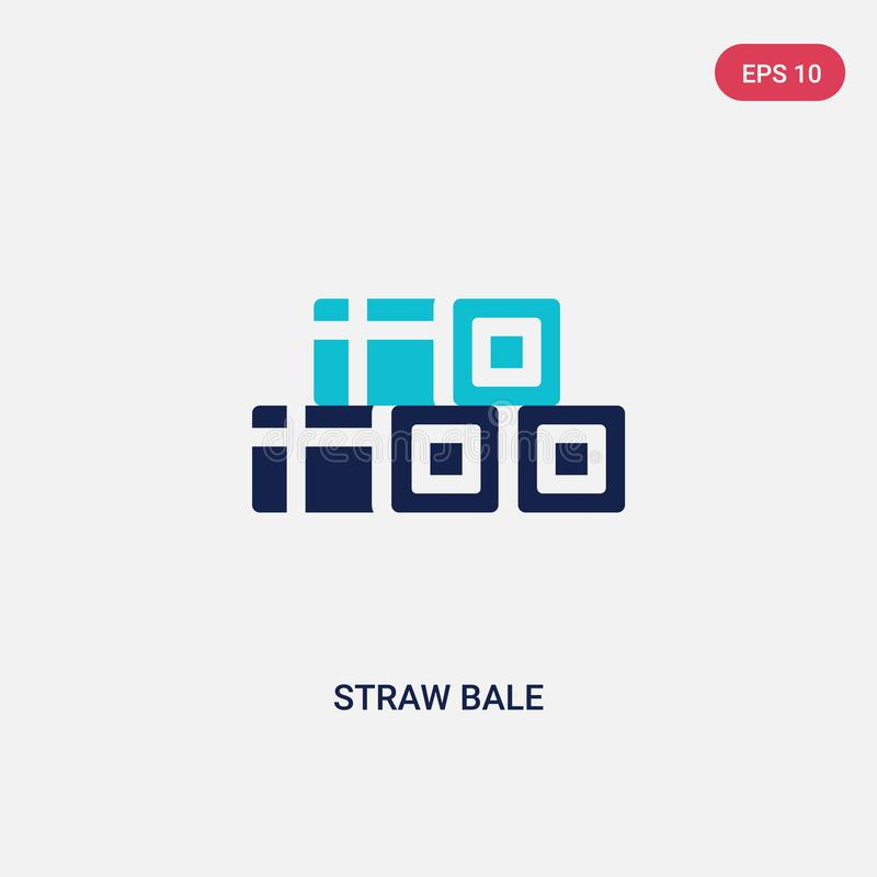 Two color straw bale vector icon from farming concept. isolated blue straw bale vector sign symbol can be use for web, mobile and. Logo. eps 10 stock illustration