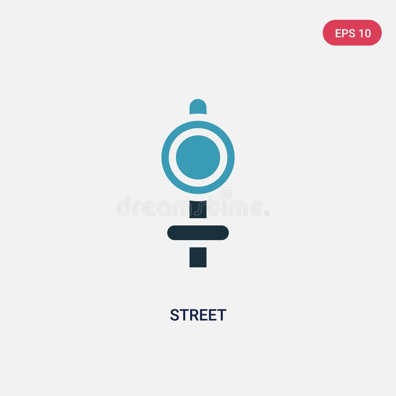Two color street vector icon from signaling concept. isolated blue street vector sign symbol can be use for web, mobile and logo. royalty free illustration