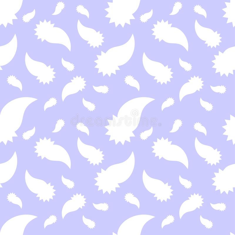 Two color stylish paisely seamless repeat pattern and vector image design stock illustration