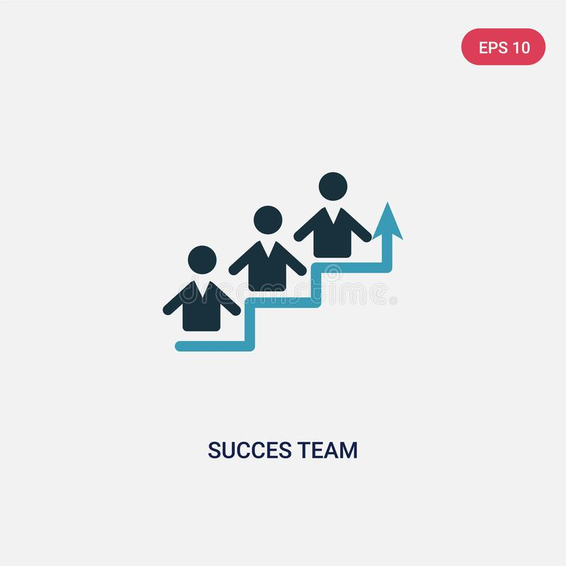 Two color succes team vector icon from people concept. isolated blue succes team vector sign symbol can be use for web, mobile and vector illustration