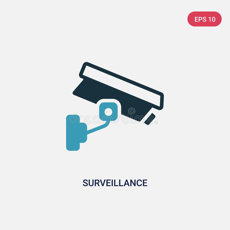 Two color surveillance vector icon from smart home concept. isolated blue surveillance vector sign symbol can be use for web, royalty free illustration