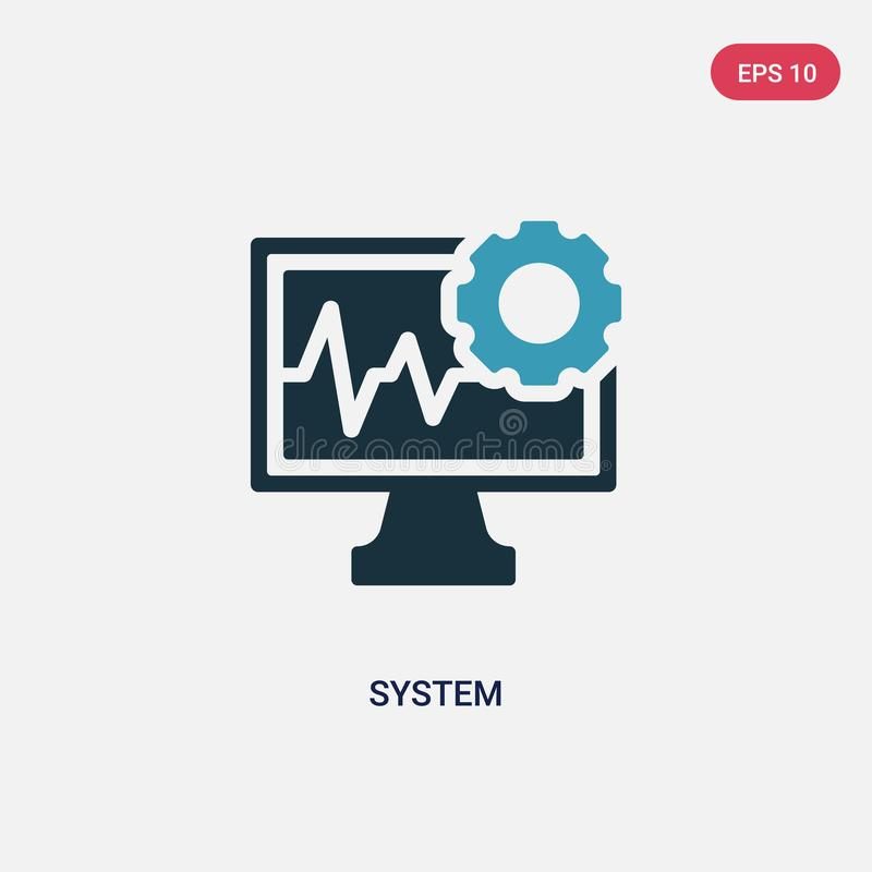 Two color system vector icon from social media concept. isolated blue system vector sign symbol can be use for web, mobile and. Logo. eps 10 vector illustration