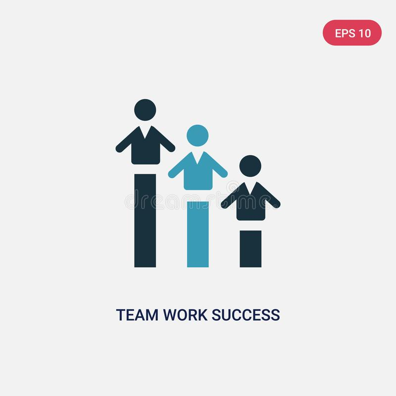Two color team work success vector icon from people concept. isolated blue team work success vector sign symbol can be use for web vector illustration