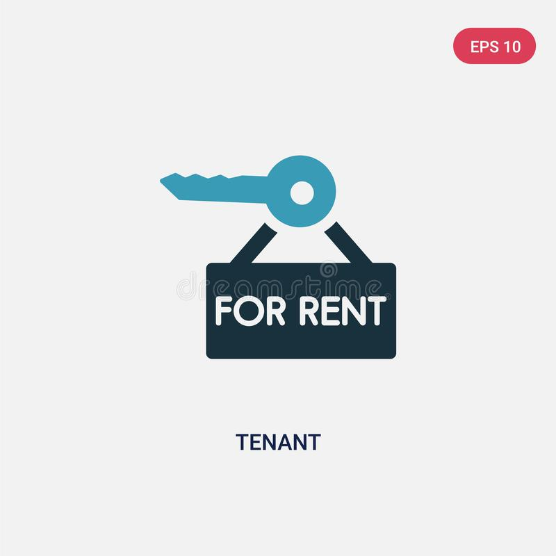 Two color tenant vector icon from real estate concept. isolated blue tenant vector sign symbol can be use for web, mobile and logo stock illustration