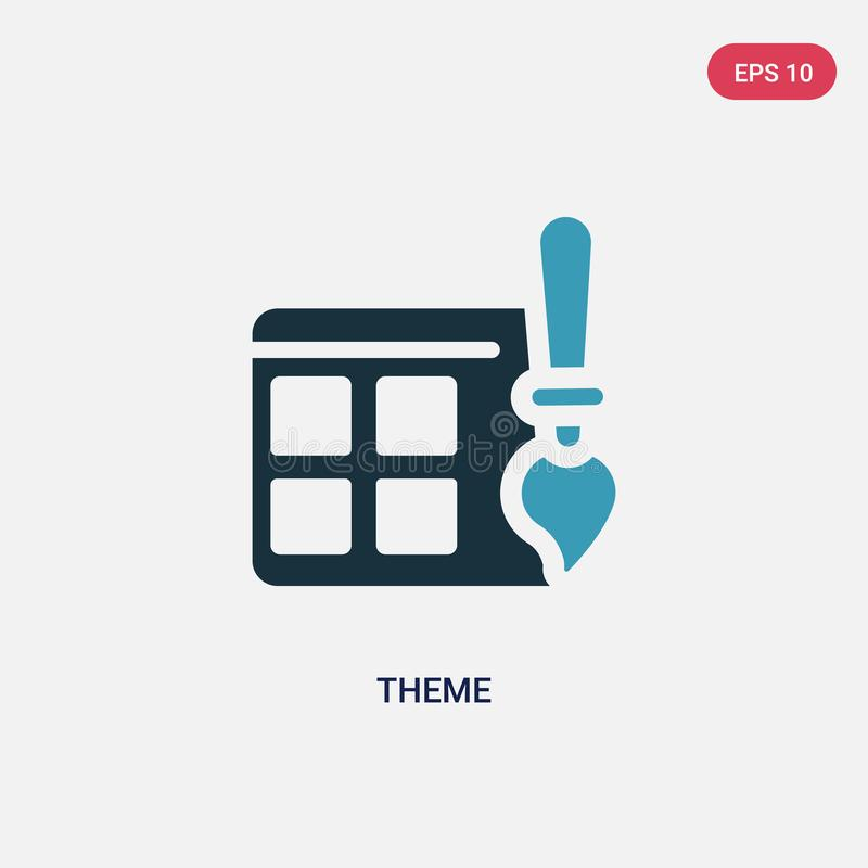 Two color theme vector icon from programming concept. isolated blue theme vector sign symbol can be use for web, mobile and logo. Eps 10 stock illustration