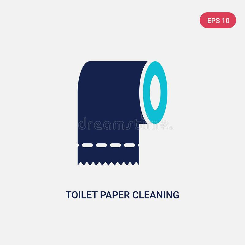 Two color toilet paper cleaning vector icon from cleaning concept. isolated blue toilet paper cleaning vector sign symbol can be. Use for web, mobile and logo vector illustration