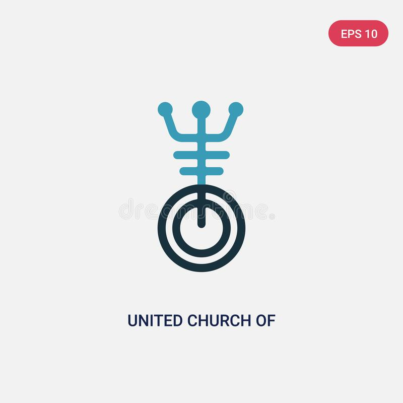 Two color united church of christ vector icon from religion concept. isolated blue united church of christ vector sign symbol can vector illustration