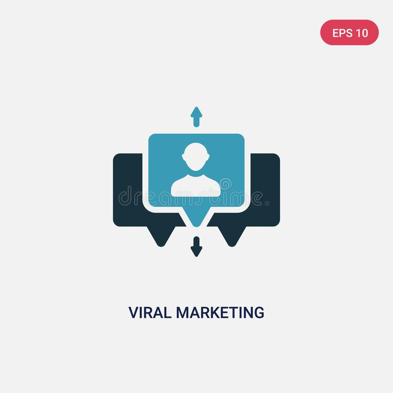 Two color viral marketing vector icon from search engine optimization concept. isolated blue viral marketing vector sign symbol vector illustration