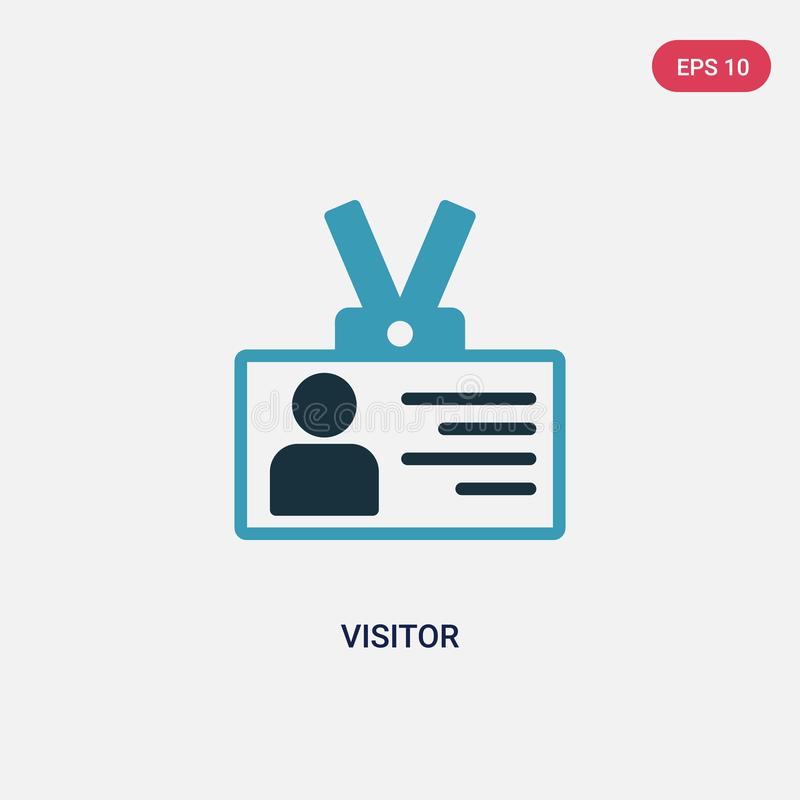 Two color visitor vector icon from strategy concept. isolated blue visitor vector sign symbol can be use for web, mobile and logo royalty free illustration