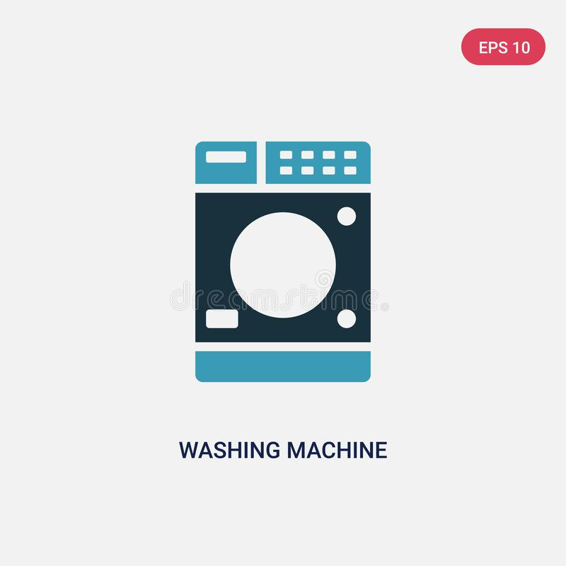Two color washing machine vector icon from signs concept. isolated blue washing machine vector sign symbol can be use for web, stock illustration