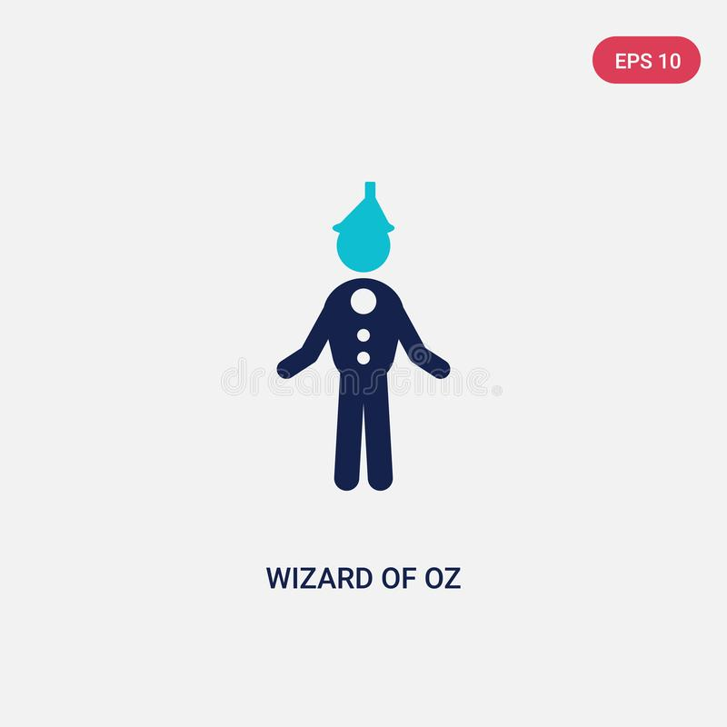 Two color wizard of oz vector icon from literature concept. isolated blue wizard of oz vector sign symbol can be use for web, stock illustration