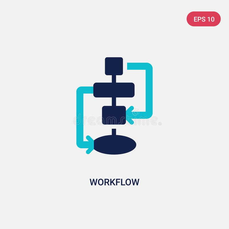 Two color workflow vector icon from creative pocess concept. isolated blue workflow vector sign symbol can be use for web, mobile. And logo. eps 10 royalty free illustration