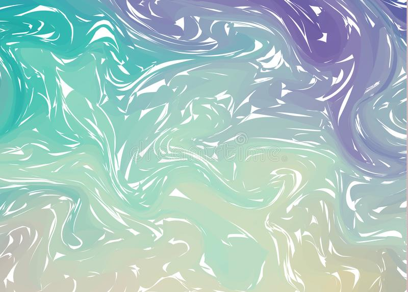 Two colorful abstract background. Liquid ink. Fluid shapes composition. Marble texture. Paint splash. Modern style trends. Backgro. Und for banner, card, poster vector illustration