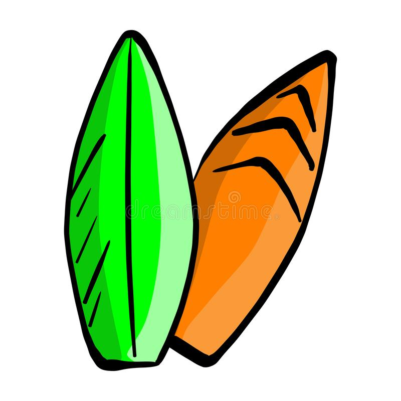 two colorful surfboard vector illustration sketch hand drawn wit rh dreamstime com