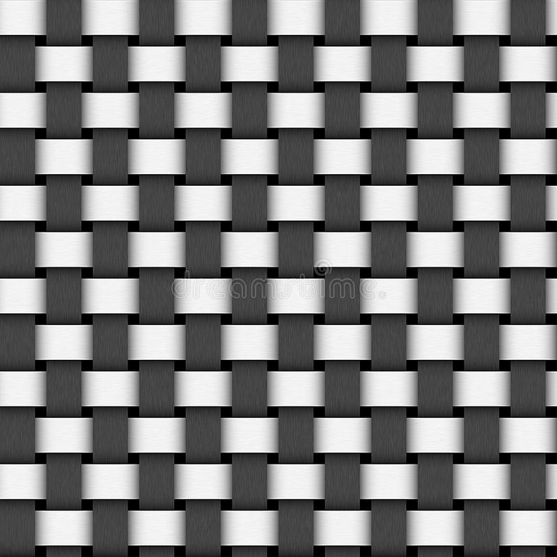 Two Colors Weave Pattern Texture Royalty Free Stock Photo