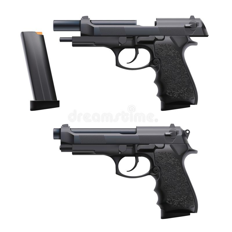 Free Two Conditions Hand Gun Royalty Free Stock Photography - 106558237