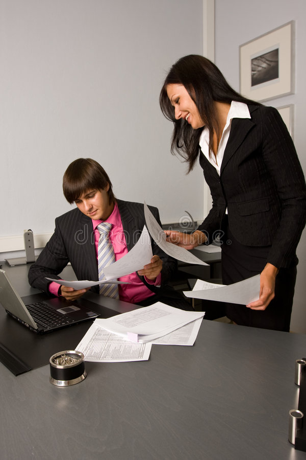 Download Two Contemporary Businesspeople At A Meeting Stock Images - Image: 5886744
