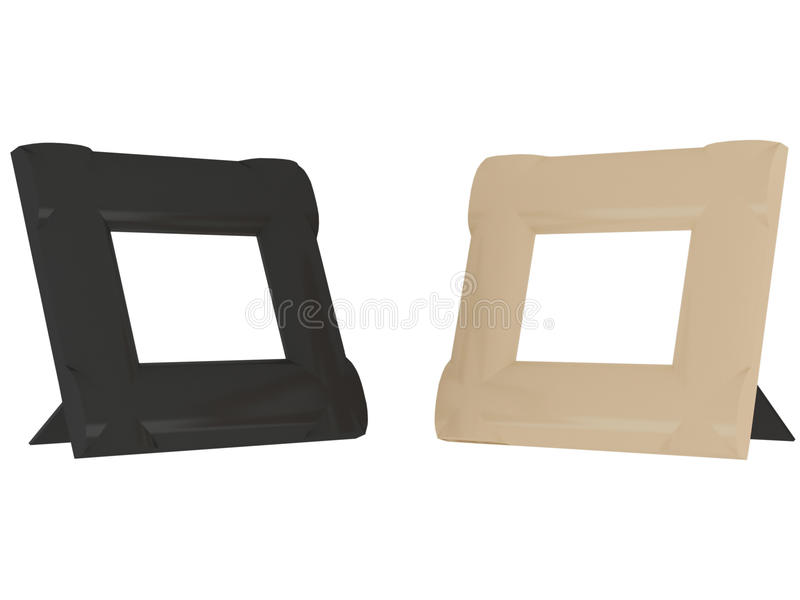 Two Contrast Frames Isolated On The White Royalty Free Stock Photography