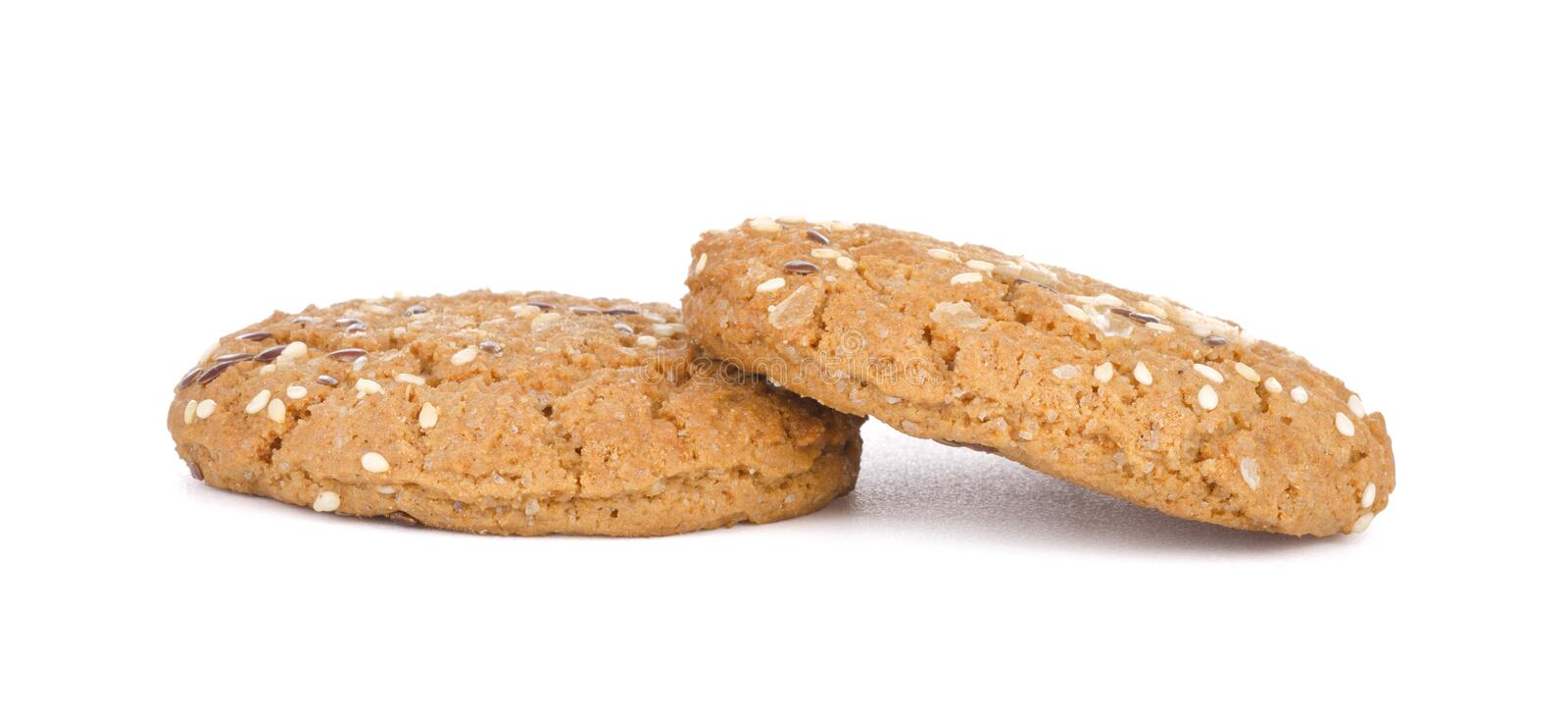 Two cookies stock images
