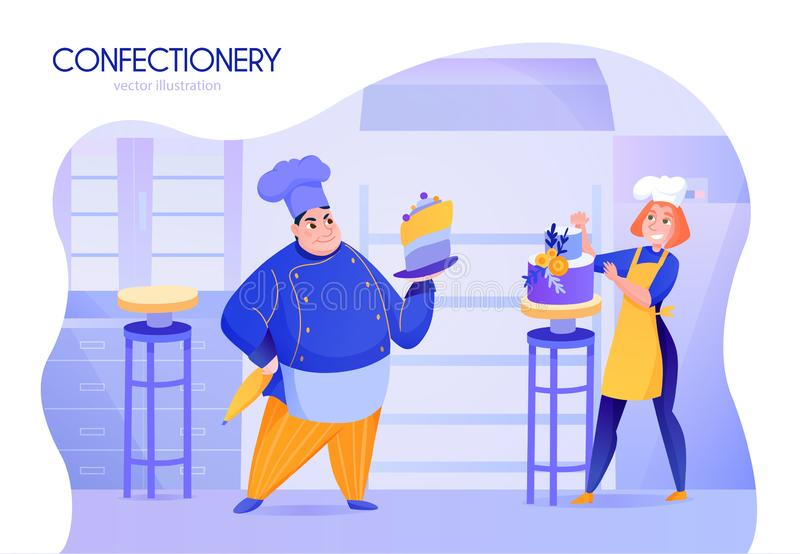 Cooks Cartoon Illustration royalty free illustration
