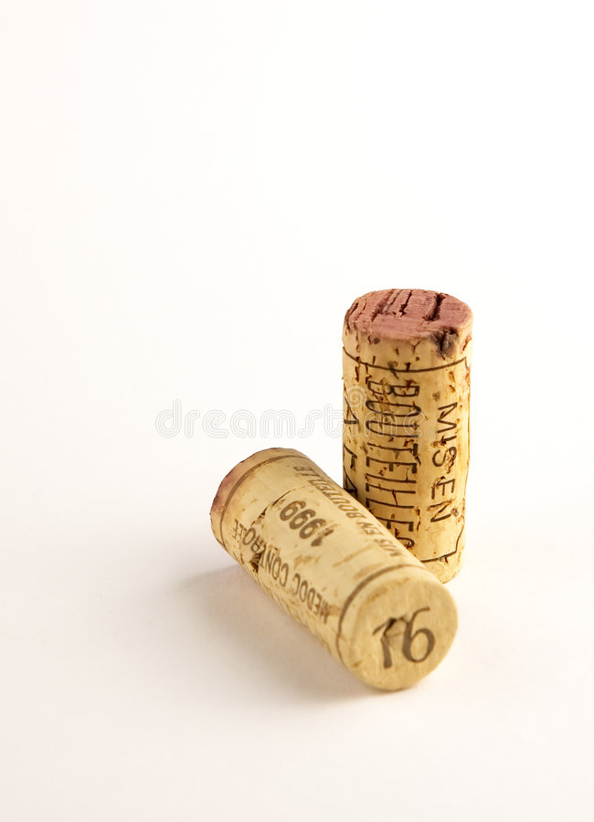 Two corks royalty free stock photo