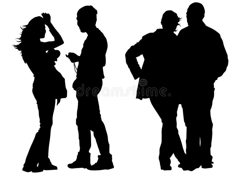 Download Two couples stock vector. Image of traditional, vector - 23984071