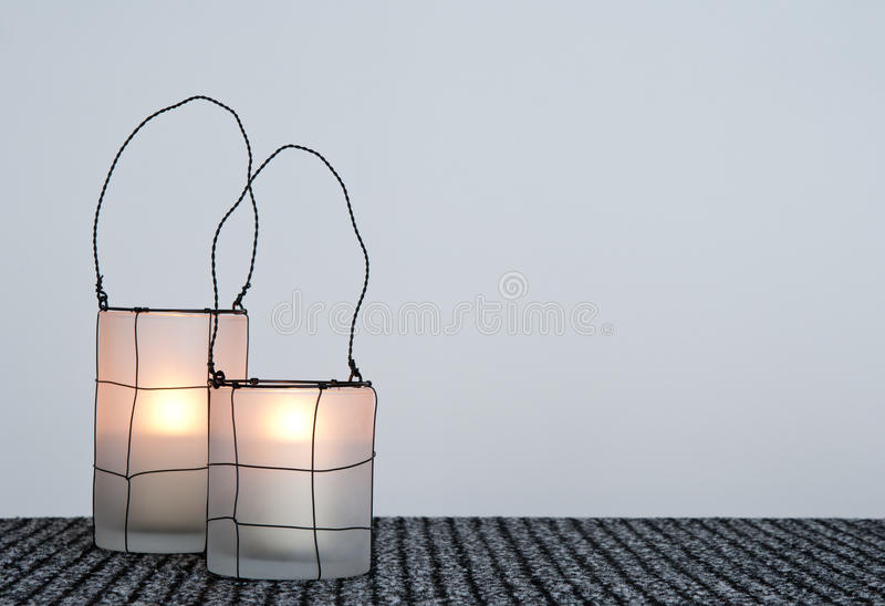 Download Two cozy lanterns stock photo. Image of holder, ornate - 27750544