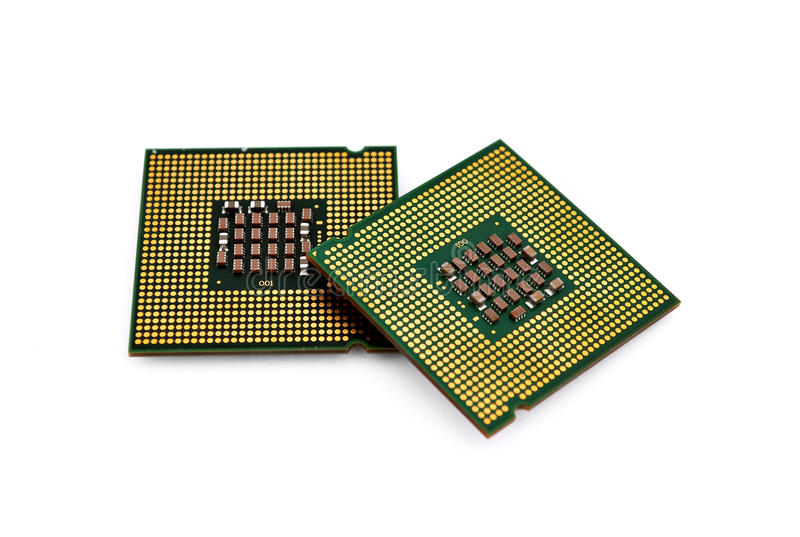 Two CPU royalty free stock photography