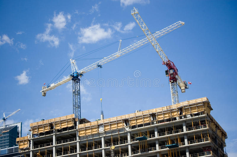 Download Two Cranes Royalty Free Stock Photo - Image: 14248365