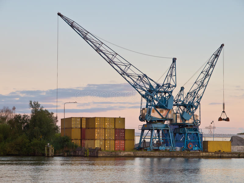 Download Two cranes stock image. Image of heel, helm, haven, dutch - 23632555