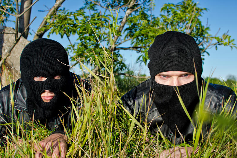 Two Criminals Stock Photo