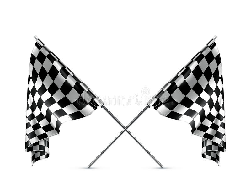 Download Two Crossed Checkered Flags Stock Vector - Illustration of speed, competition: 24511062