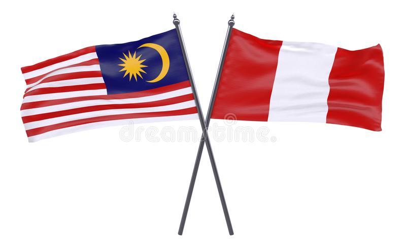 Two crossed flags royalty free stock images