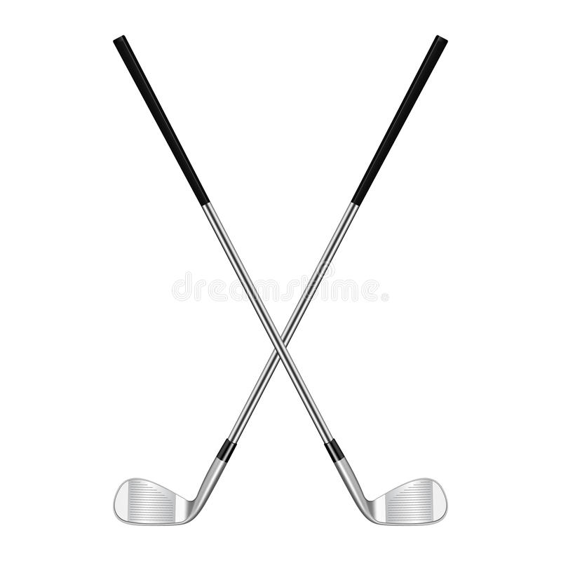 Free Two Crossed Golf Clubs Royalty Free Stock Image - 52388186