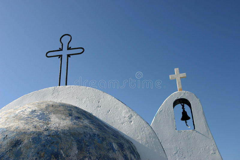 Two crosses stock images