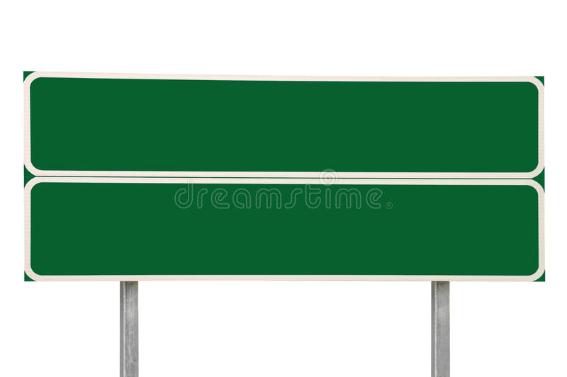 Two Crossroads Road Signs, Green Isolated Traffic Sign Copy Space Background, Large Detailed Closeup, White Frame. Two Crossroads Road Signs, Green Isolated stock photos