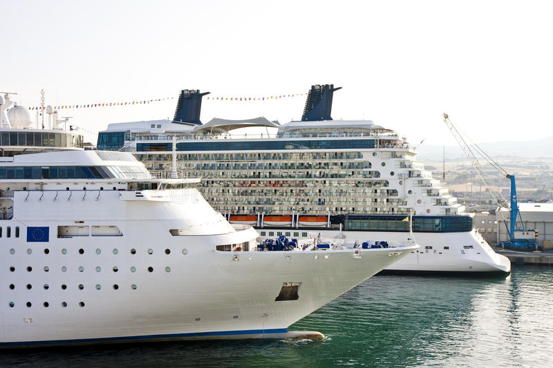 Download Two Cruise Ships in Harbor stock photo. Image of harbor - 10352638