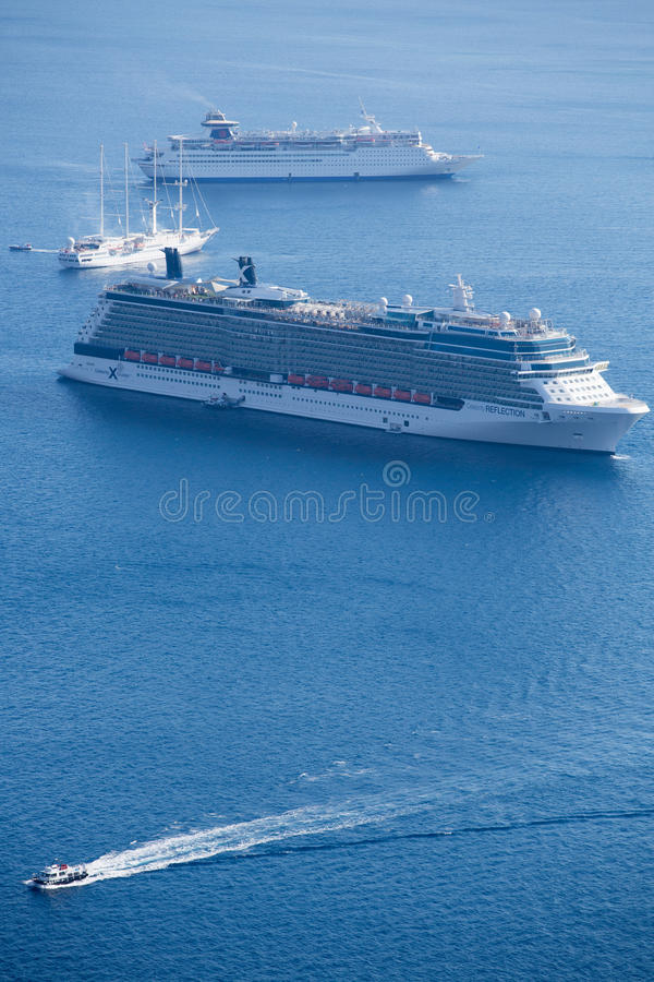 Download Two Cruise Ships And Other Boats Editorial Stock Photo - Image: 34398538