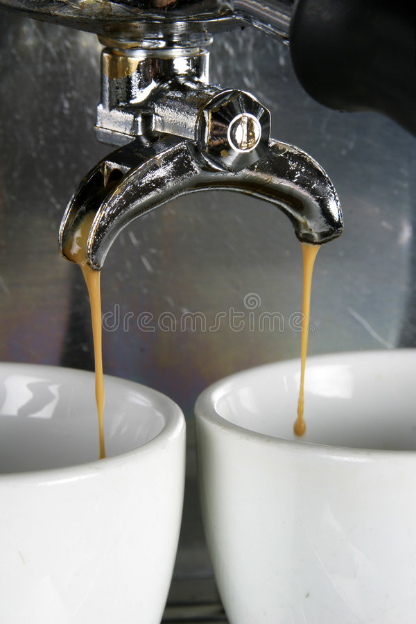 Two Cups Espresso stock photography