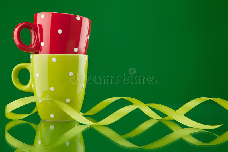 Download Two cups with ribbon stock image. Image of pair, object - 18429633