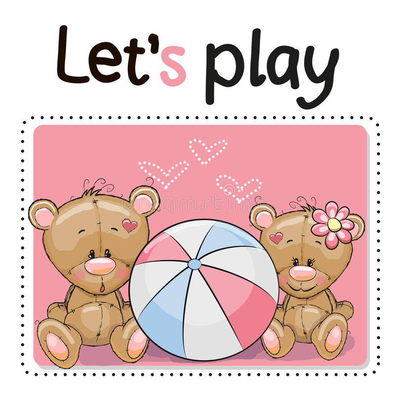 Free Two Cute Bears Stock Image - 63836591