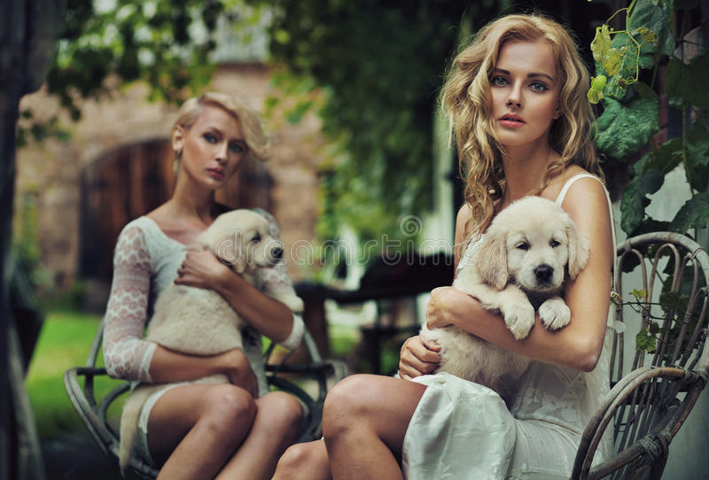 Two Cute Blondie Royalty Free Stock Photos