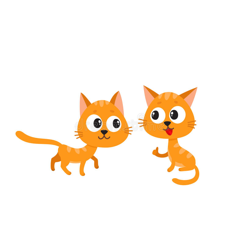 Free Two Cute, Funny, Naughty, Playful Red Cat Characters Playing Together Stock Photography - 88590782