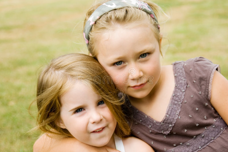 Two Cute Girls royalty free stock photos