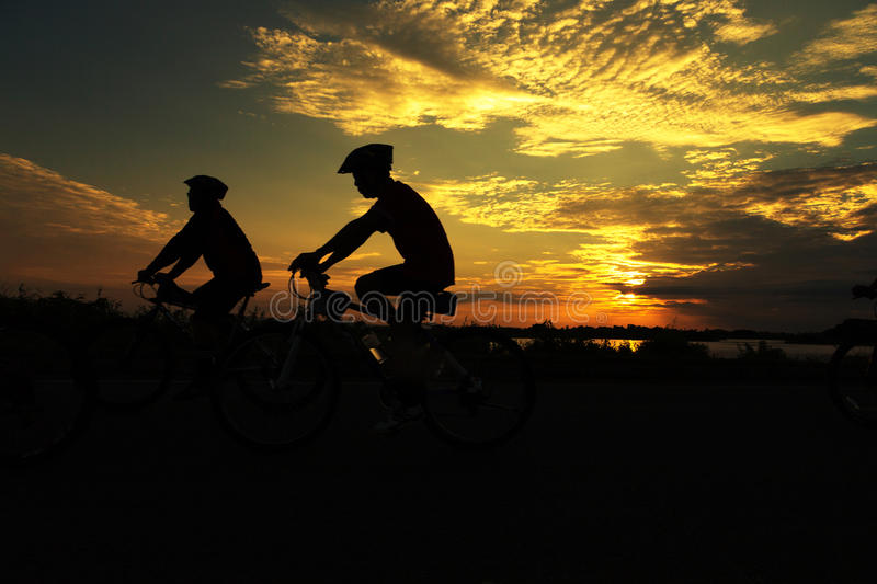 Two Cycling for Health stock images