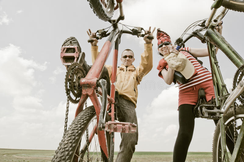 Download Two Cyclists Royalty Free Stock Image - Image: 9437096