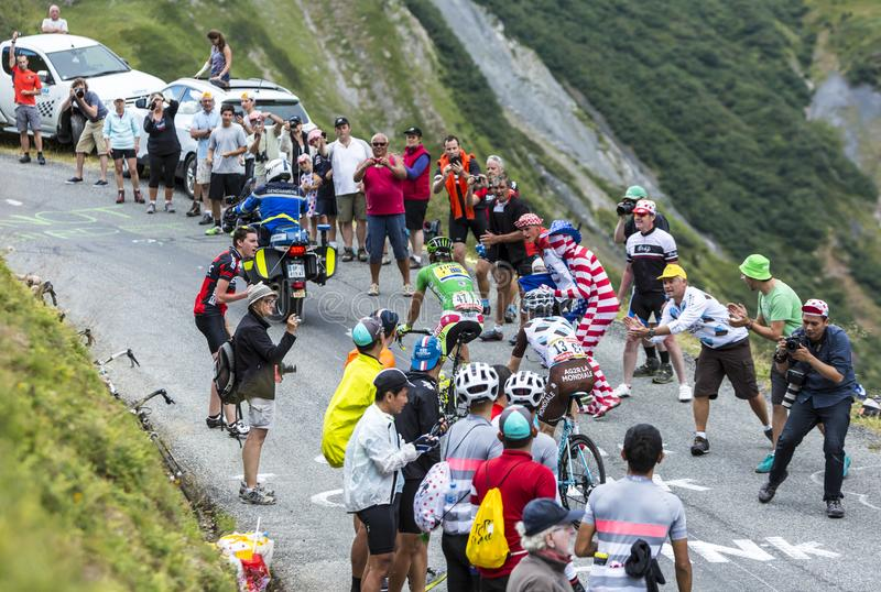 Two Cyclists - Tour de France 2015 royalty free stock images